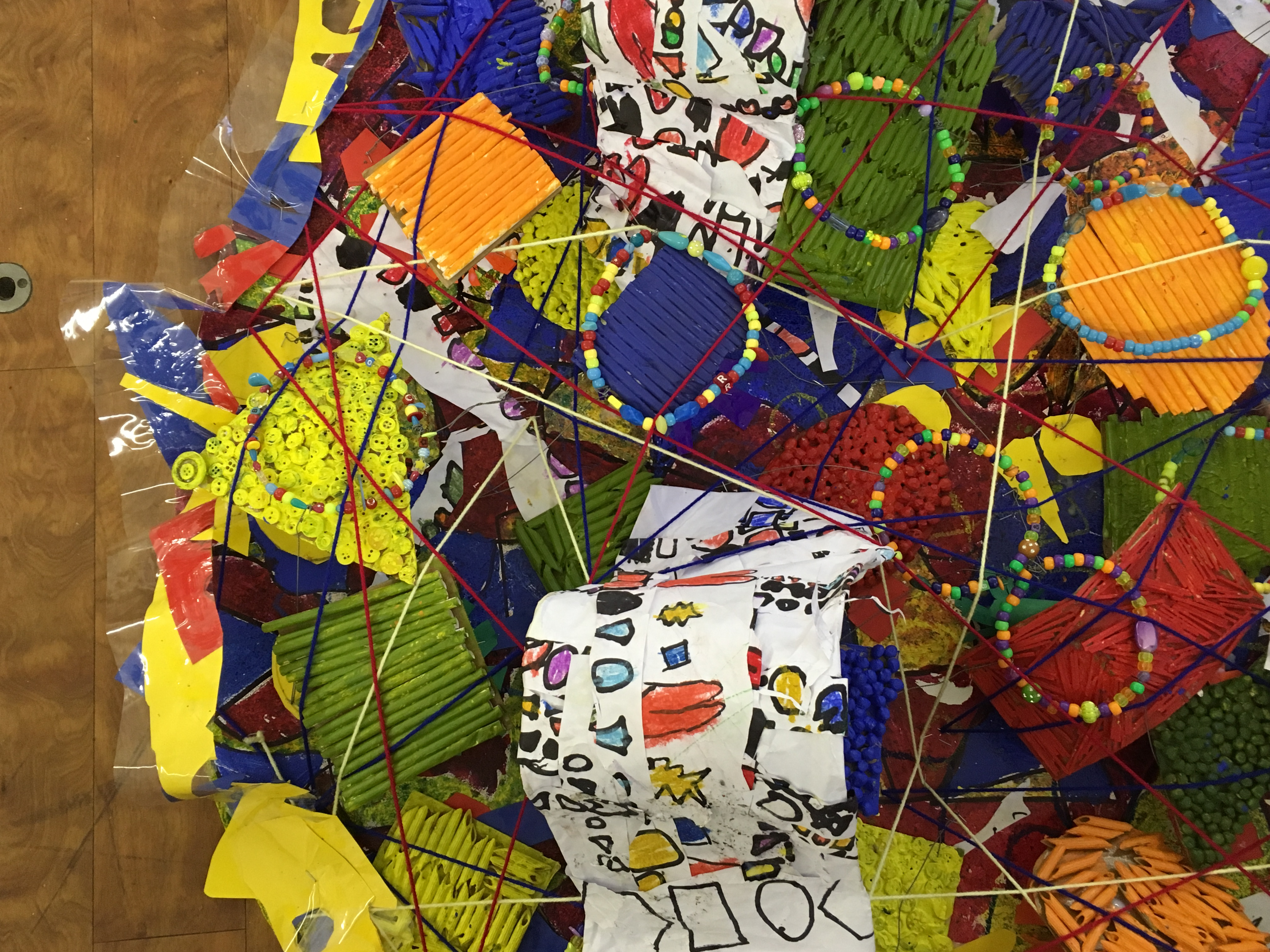 Detail - A Forest of Shapes - bas-relief - mixed media - EYFS, Year 1